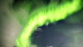 Arctic night sky - Northern Lights - Spitsbergen, Svalbard. Natural phenomenon of Northern Lights (Aurora Borealis) related to the earth's magnetic field stock video