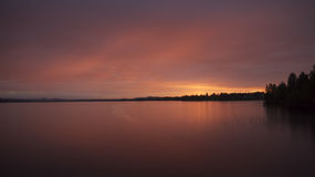 Picturesque lake sunset Royalty Free Stock Image