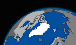 Arctic north polar region on planet Earth political map Royalty Free Stock Photography