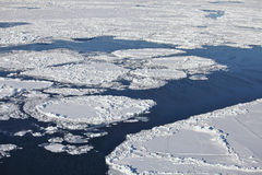 Arctic Ocean - aerial view Royalty Free Stock Photography