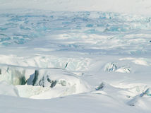 Arctic Ocean - blue glacier ice Stock Photos