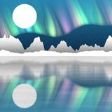 Arctic pole landscape generated hires background Stock Photography
