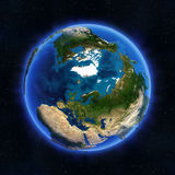 Arctic and Russia globe Stock Photography