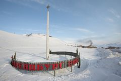 The Arctic Russian city of Barentsburg-Spitsbergen Stock Images