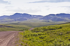 Arctic scenery and snow packs Stock Photos