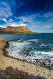 Arctic sea and coastline in Iceland Royalty Free Stock Photography