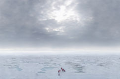 Arctic Sea ice and clouds Stock Photography