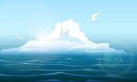 Arctic seascape with iceberg Stock Image