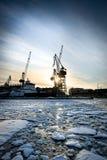Arctic shipyard Stock Images