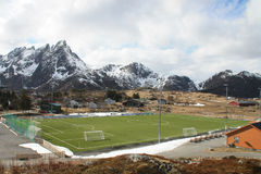 Arctic soccer  field Royalty Free Stock Photo