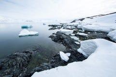 Arctic spring in south Spitsbergen. Hornsund Fjord royalty free stock photo