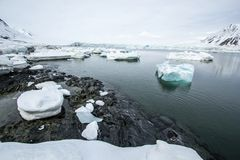 Arctic spring in south Spitsbergen. Hornsund Fjord stock photos