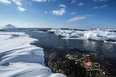 Arctic spring in south Spitsbergen. Hornsund Fjord stock image