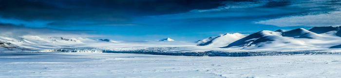 Arctic spring in south Spitsbergen Stock Photos