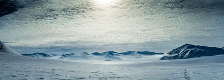 Arctic spring in south Spitsbergen Stock Photo