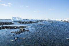 Arctic spring in south Spitsbergen. Hornsund Fjord royalty free stock photos
