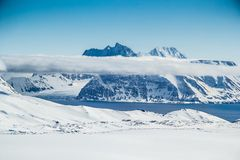 Arctic spring in south Spitsbergen. Hornsund Fjord stock photo