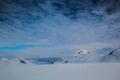 Arctic spring in south Spitsbergen. Hornsund Fjord stock photography