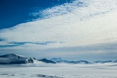 Arctic spring in south Spitsbergen. Hornsund Fjord stock images
