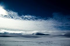Arctic spring in south Spitsbergen. Hornsund Fjord royalty free stock images