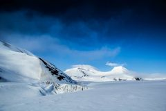 Arctic spring in south Spitsbergen Stock Image