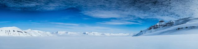 Arctic spring in south Spitsbergen. Royalty Free Stock Photo