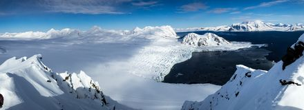 Arctic spring in south Spitsbergen. Stock Image