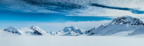 Arctic spring in south Spitsbergen. Royalty Free Stock Images