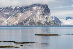Arctic summer landscape - Spitsbergen, Svalbard Royalty Free Stock Image