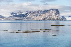 Arctic summer landscape - Spitsbergen, Svalbard Royalty Free Stock Images