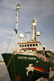 Arctic Sunrise Greenpeace ship Royalty Free Stock Photo