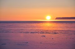 Arctic sunset Stock Photography