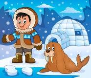 Arctic theme image 3. Eps10 vector illustration vector illustration