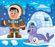 Arctic theme image 5. Eps10 vector illustration vector illustration