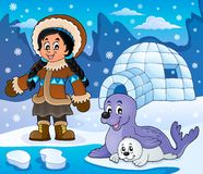 Arctic theme image 6. Eps10 vector illustration Royalty Free Stock Photography