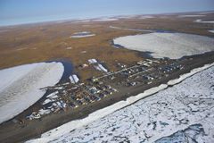 Arctic tundra from air Royalty Free Stock Image