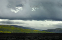 Arctic tundra Norway. Landscape of Arctic tundra in Norway on rainy overcast day Stock Photography