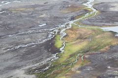 Arctic tundra - Spitsbergen, Svalbard Royalty Free Stock Image