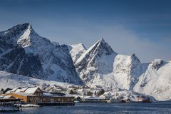 Arctic village Stock Images
