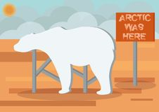 Arctic was here royalty free illustration