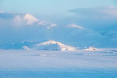 Arctic wind. Katabatic wind on mountains in Greenland royalty free stock image