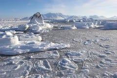 Arctic winter landscape Stock Photos