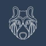Arctic wolf logo vector Royalty Free Stock Photos