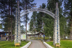 The arctic zoo of Lapland. Entrance to the zoo in northern Finland royalty free stock image