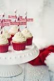 Arctica cupcakes Royalty-vrije Stock Foto's