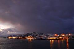 arcticnight Νορβηγία Στοκ εικόνα με δικαίωμα ελεύθερης χρήσης
