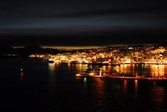 Arcticnight in Tromso Lizenzfreie Stockbilder