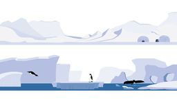 Arctique et l'Antarctique illustration libre de droits