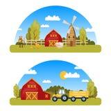 Arcuate Rolny Panorams ilustracja wektor