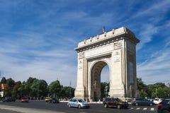 Arcul de Triumf в Бухаресте, Румыния стоковое фото